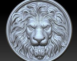 3D door lion head