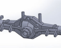 Axial AX10 Axle Set AX30488 Full Assembly 3D Printable
