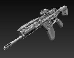 Sci-Fi Assault Riffle 3D