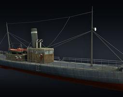 cargo ship 3d asset game-ready
