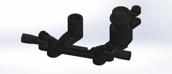 traxxas t maxx e maxx sterring set assembly 4945 3d print model 3d model stl sldprt sldasm slddrw ige igs iges 1