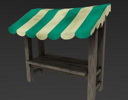 Medieval Market Stall 3D model