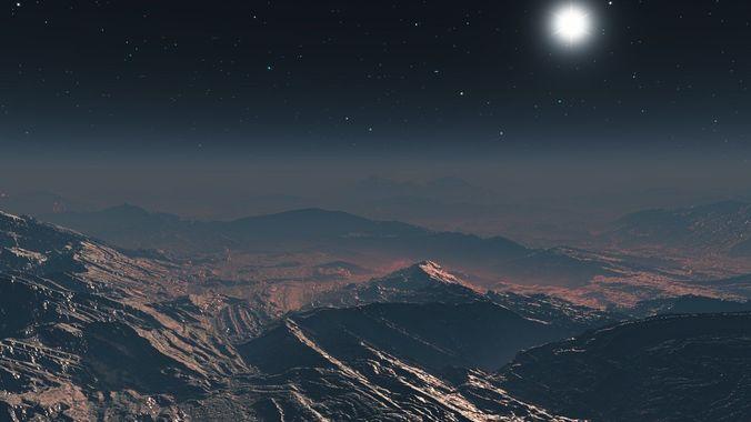 inhospitable planet in vue 3d model vue 1