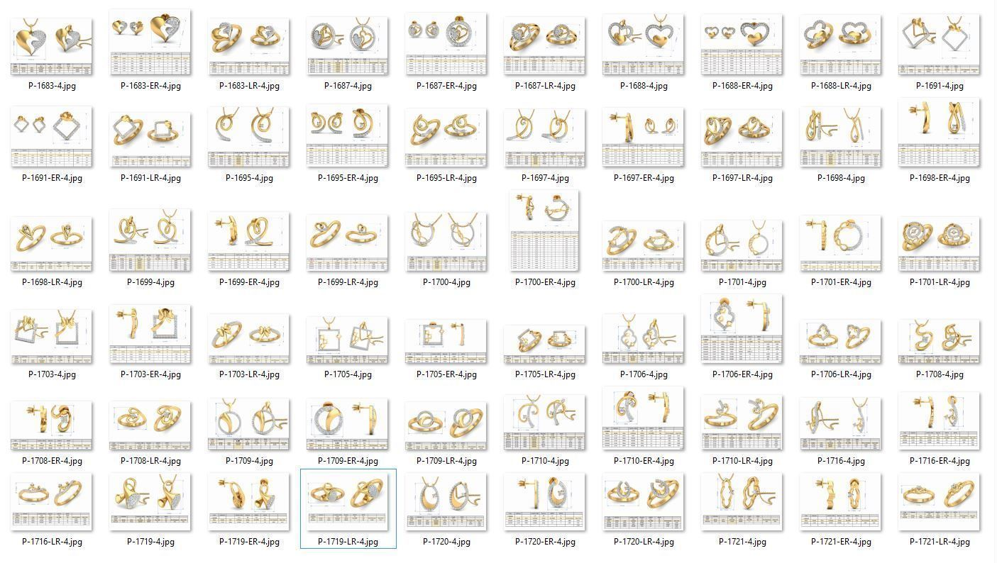 Collection- Bulk Pendant Sets-0007-3dm without stones-20 Files