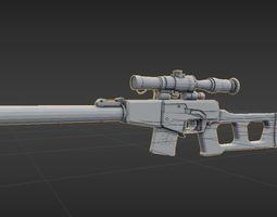VSS Vintorez gun 3D model