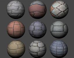 Floor Tiles Texture Pack 4 3D model