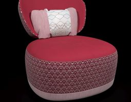 Juju by moroso armchair 3D model