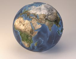 3D model Earth globe embossed