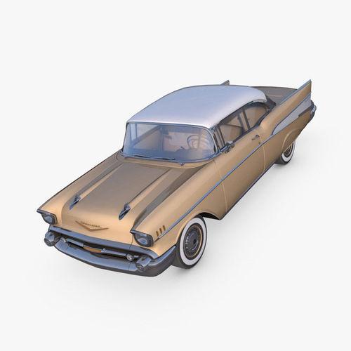 chevrolet bel air 1957 3d model max fbx c4d dae 1