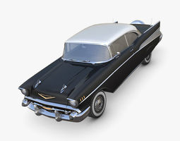 Chevrolet Bel Air 1957 black 3D asset