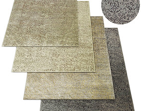 Metallic Volte Rug RH carpet 3D model