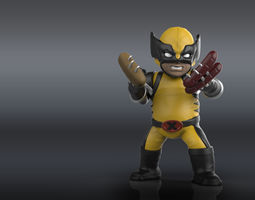 Chubby Wolverine 3D print model wolverine