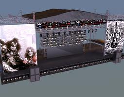 3D concert stage