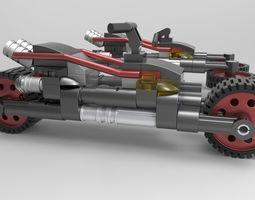 island LEGO motorcycle 3d model