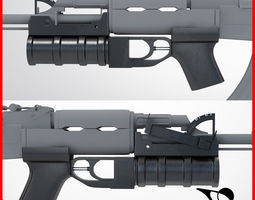 3D model war Grenade Launcher
