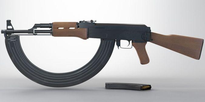 ak-47 round 3d model max 1