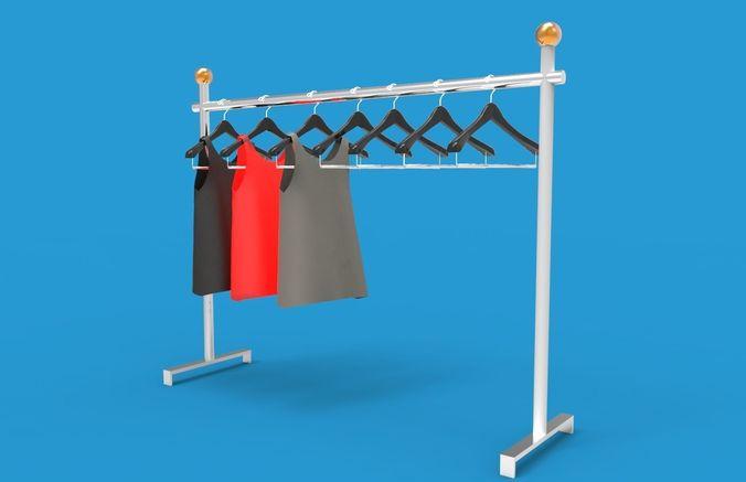 hanger rack 3d model max obj mtl 3ds fbx dae 1