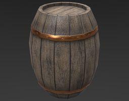 Medieval Wooden Barrel 3D asset