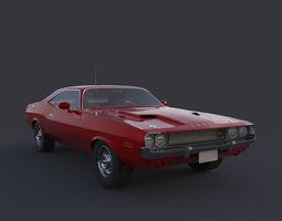 3D model Dodge Challenger fast