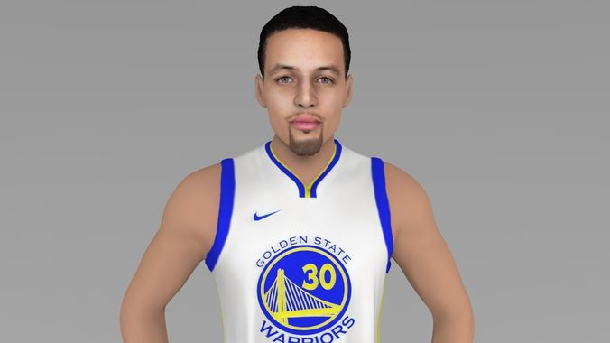 stephen curry ready for full color 3d printing 3d model obj mtl stl wrl wrz 1