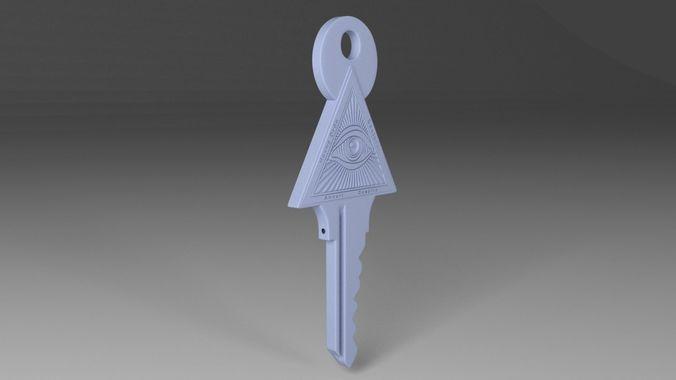 illuminati key 3d model 3d model obj mtl fbx stl 1