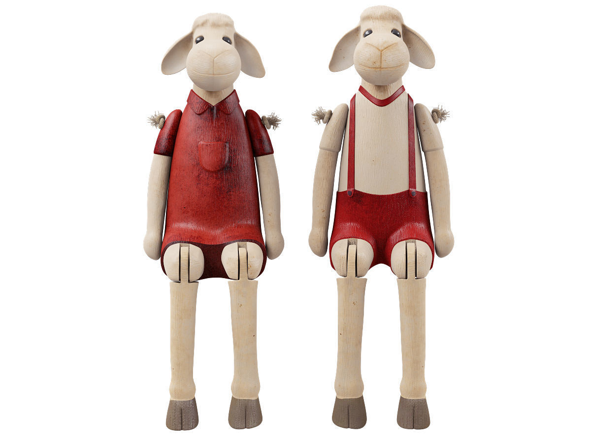 Decorative Sheep Figurines | 3D model