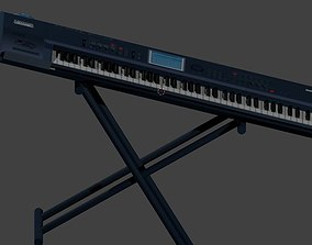 Korg TRITON Extreme 76-Key Music Workstation 3D model
