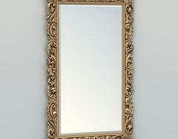 3D model Rectangle mirror frame 013