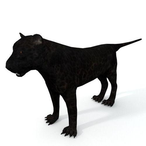 black panther 3d model low-poly obj mtl 3ds fbx stl blend dae 1