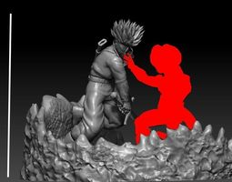 Future trunks vs mecha Frieza second part 3D print model