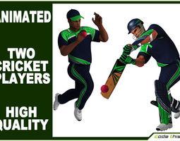 Cricket Batter and Bowler CG 3D Model
