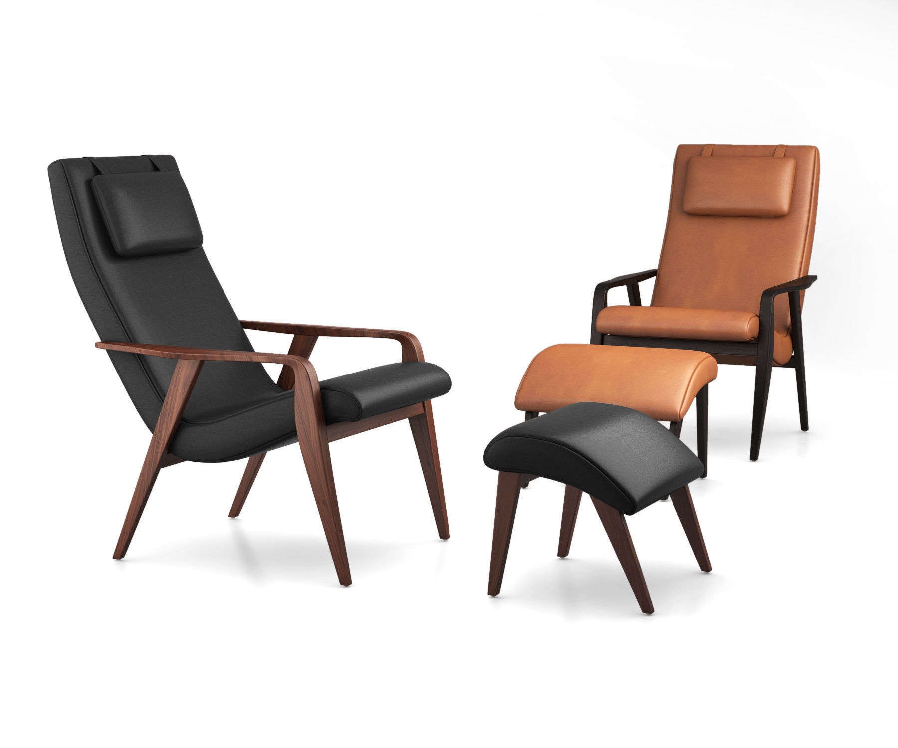 Contour Mid-Century Leather Chair by West Elm