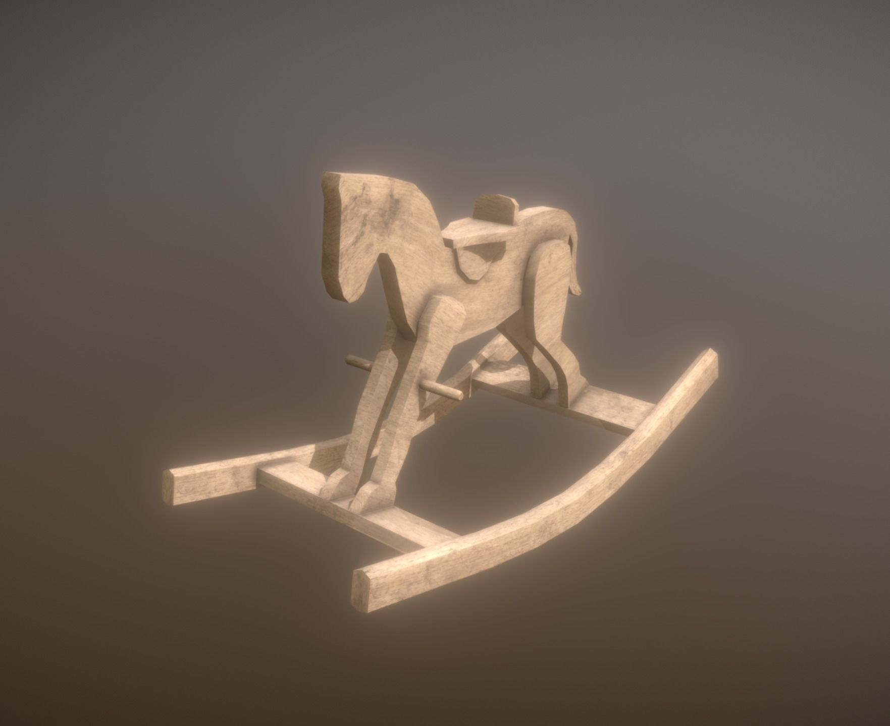 Low Poly Rocking Horse