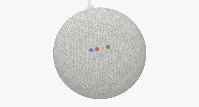 google home mini  3d model max obj mtl 3ds fbx ma mb blend 1