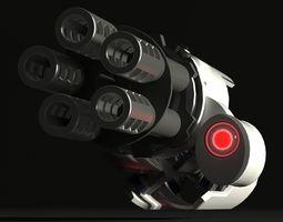 3D Antiaircraft gun