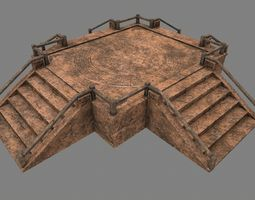 Stairs 3D asset