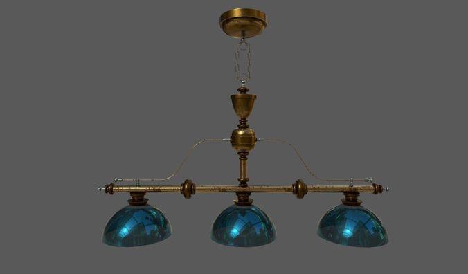 chandelier old 3d model fbx dae 1