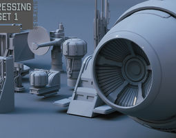 3D Scifi dressing kitbash set 1