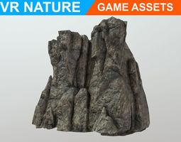 3D asset Low poly Realistic Cave Wall A1 180611