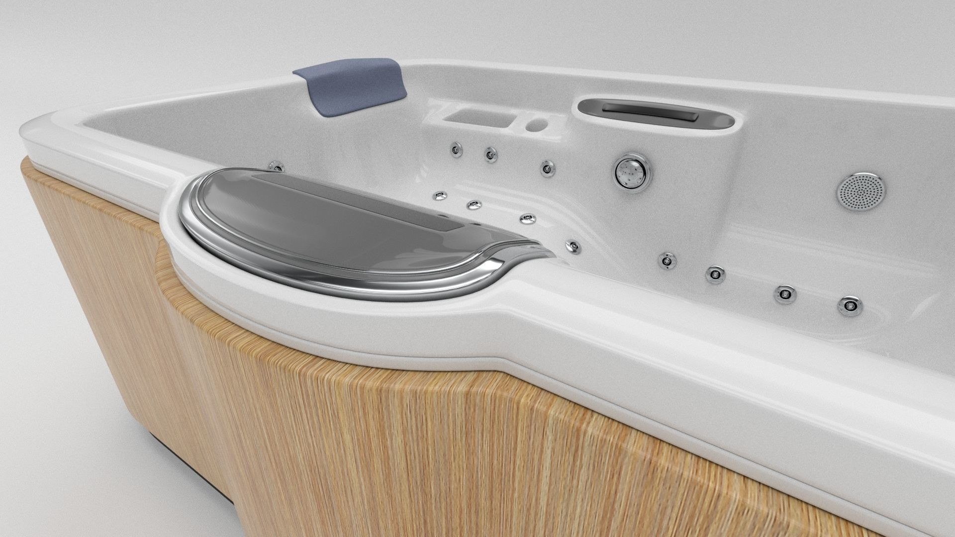 3D Model Hot Tub Whirlpool Spa Vr Ar Low Poly Max