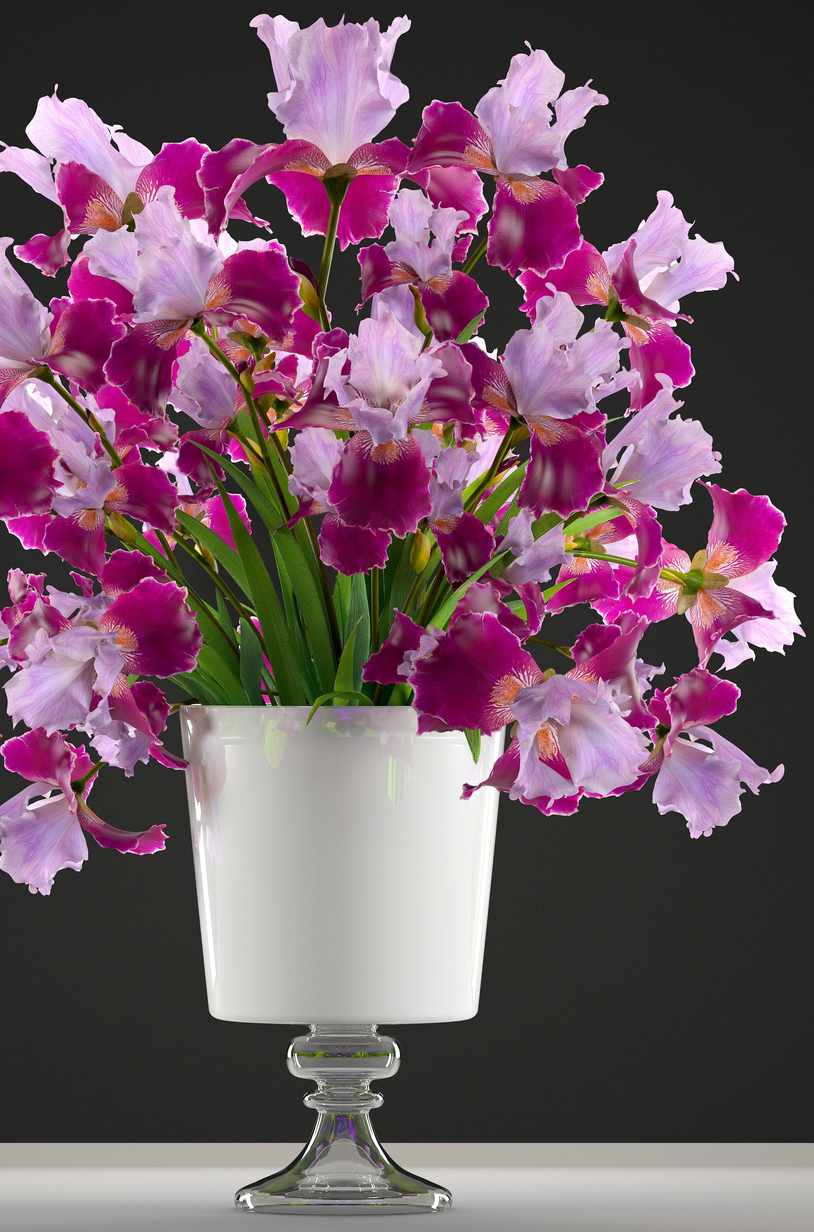 Flower bouquet of iris 3d model cgtrader flower bouquet of iris 3d model max obj mtl fbx 2 izmirmasajfo