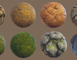 grass Forest - Stylized PBR materials 3D