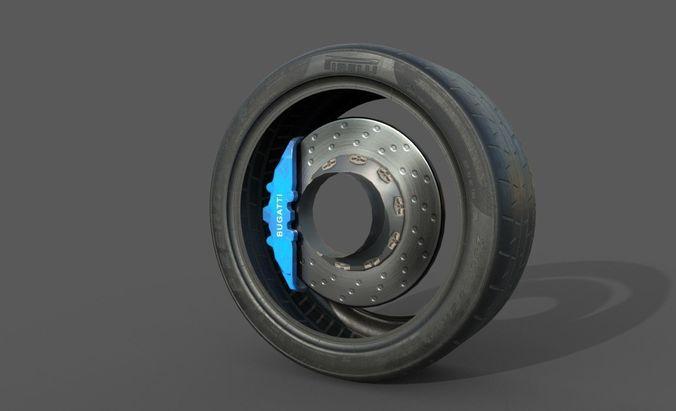 pirelli tire 3d model low-poly max obj mtl fbx 1