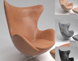 Fritz Hansen EGG Leather Chair Blender Cycles 3D