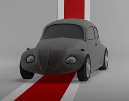 Retro Volkswagen Beetle 3D model