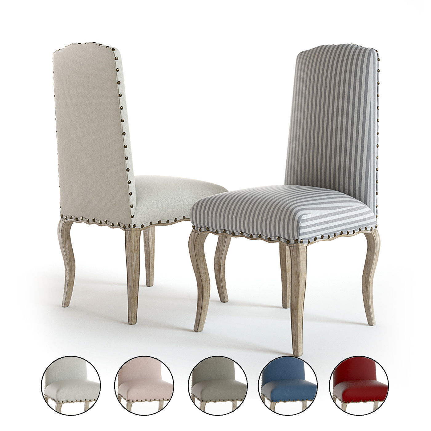 Pottery Barn - Calais dining chairs | 3D model