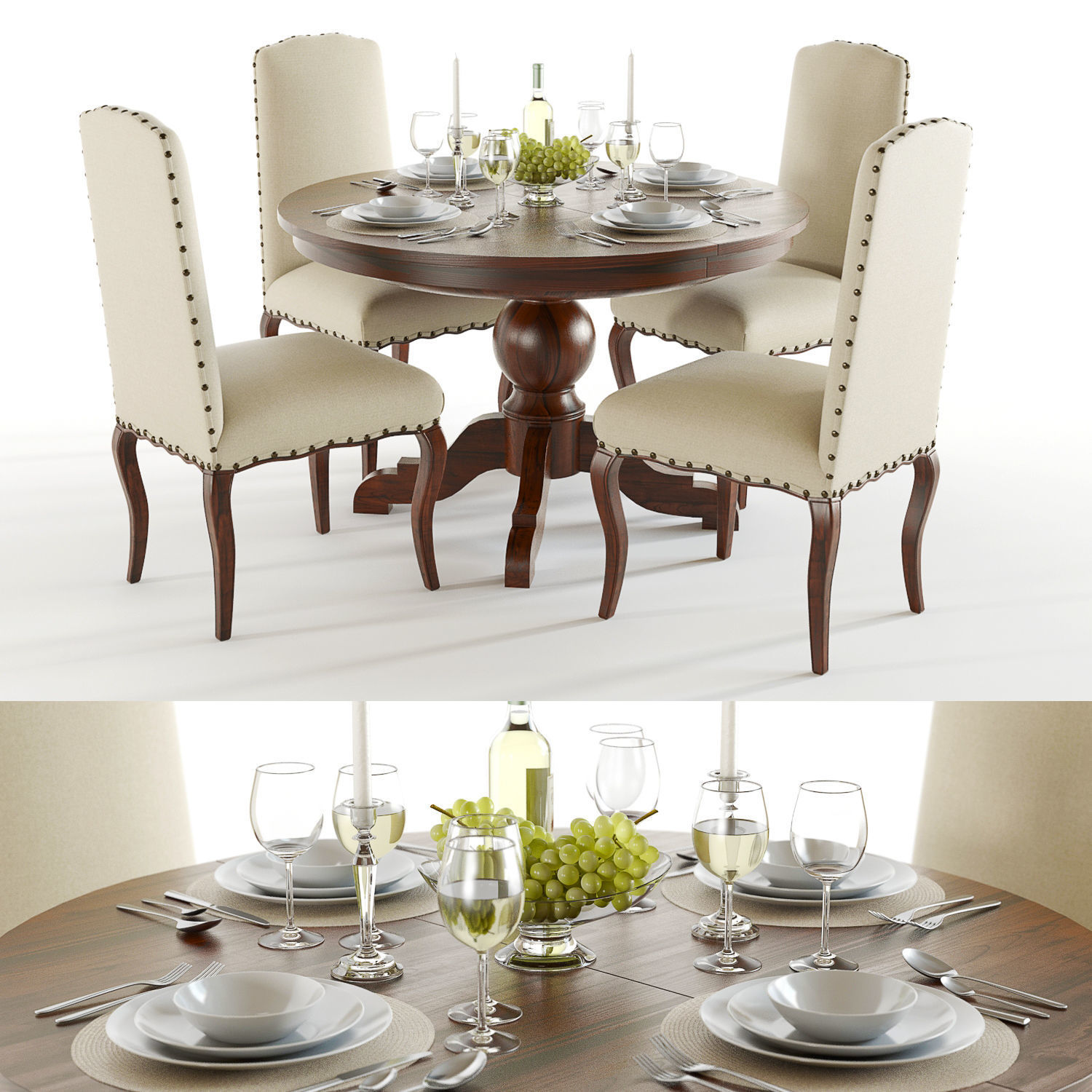 Pottery Barn Sumner And Calais Dining Set Model