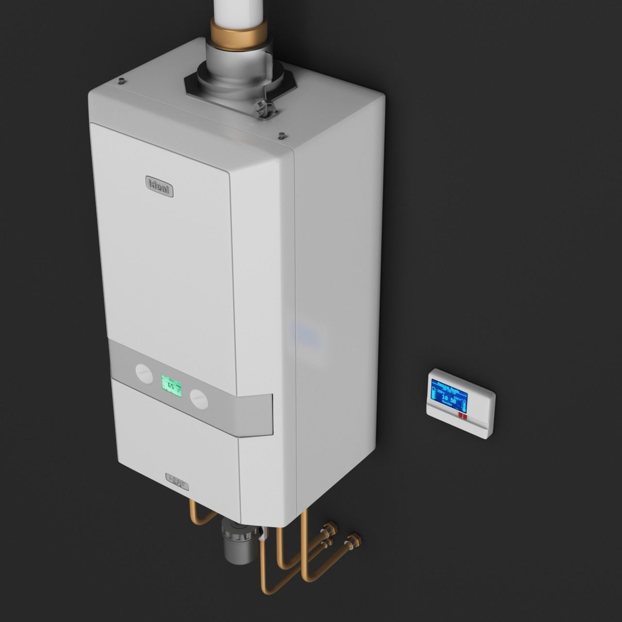 Ideal Logic Heat Domestic Boiler with control unit