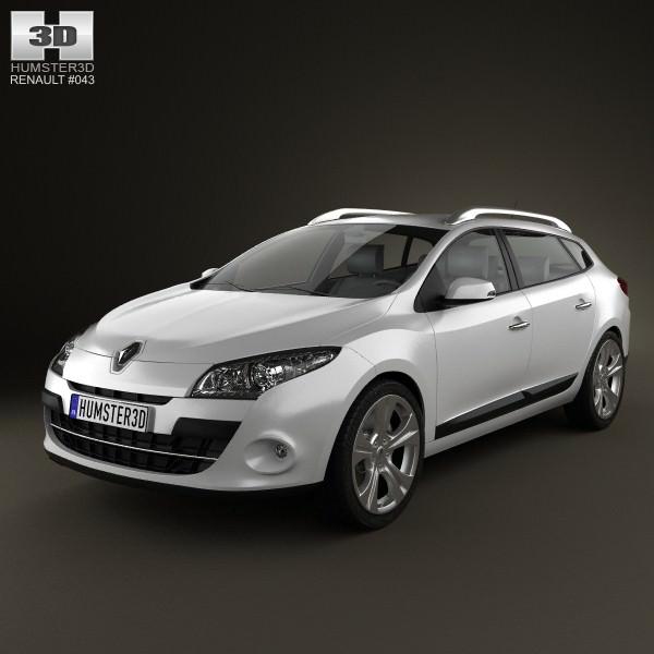 Renault Megane Estate: Renault Megane Estate 2011 3D Model