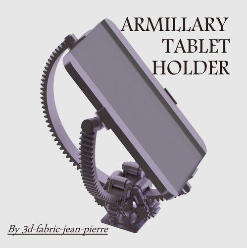 armillary tablet holder 3d model stl blend 1